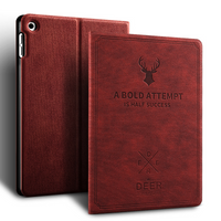 PU Leder Cover & Case Hirsch Muster Logo angepasste Version Tablet Cover für iPad Mini4 5